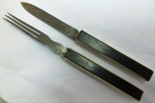 Lovely Boer War WW1 Officers Campaign Cutlery Set