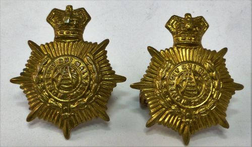 38 Original Victorian Army Service Corps Collar Badges