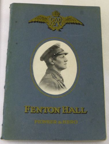 1941 Dated Book on Fenton Hall Pioneer & Hero