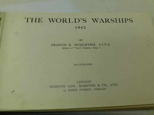 Book on The Worlds Warships dated 1942