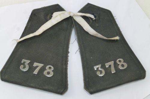 Vintage British Police Waterproof Coat Epaulettes