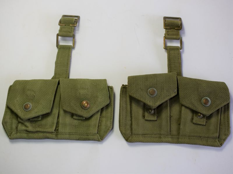 WW2 Canadian Made P37 Sentry Ammo Pouches Dated 1941