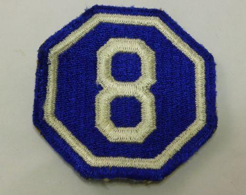 Original WW2 US Army VIII Corps Cloth Badge