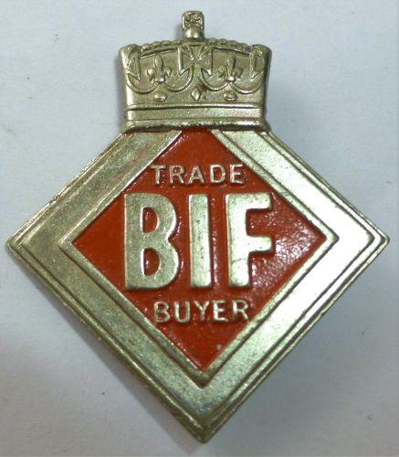 Vintage British Industry Fairs Trade Buyer Badge