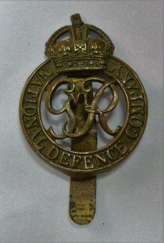 Original WW2 National Defence Company Cap Badge