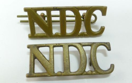 Original National Defence Company Shoulder Titles
