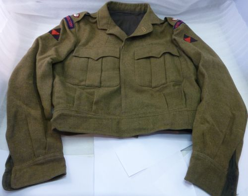 Post WW2 RA 3rd Infantry Officers Tailor Made BD Blouse