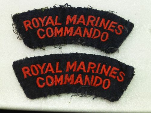 Vintage Original Royal Marines Commando Cloth Insignia