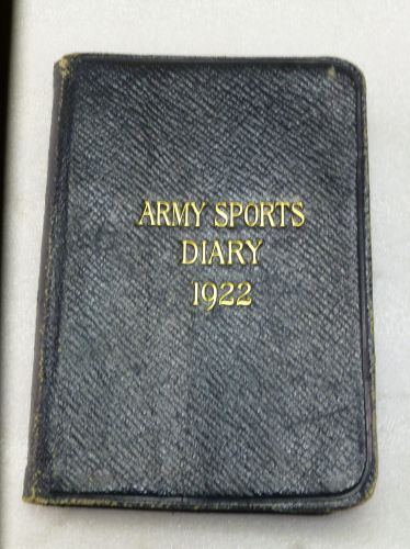 British Army Sports Diary for 1922