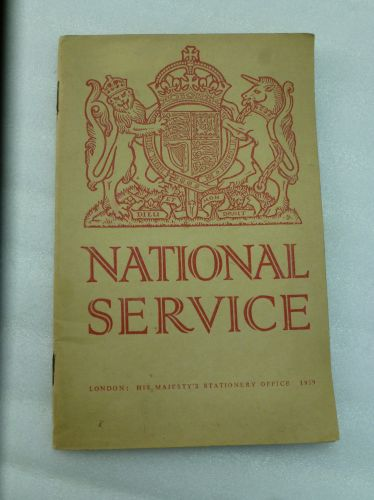 WW2 1939 Dated British National Service Pamphlet