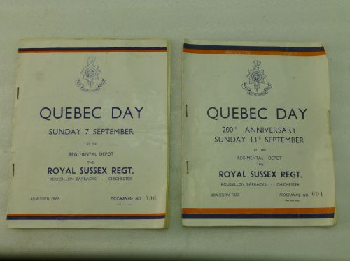 Pair of Royal Sussex Quebec Day Programs 1958 & 1952