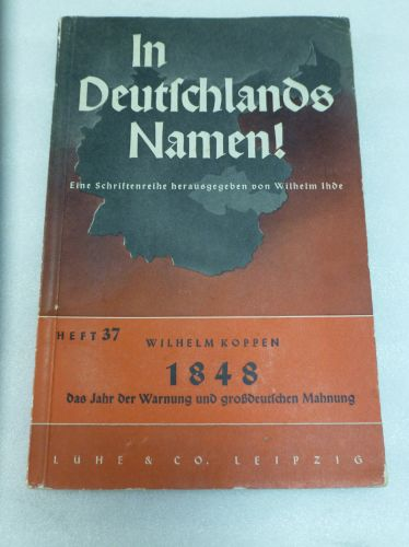1939 German Booklet In Deutschlands Namen