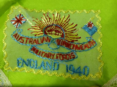 Interesting WW2 Australian Sweetheart Hanky England 1940