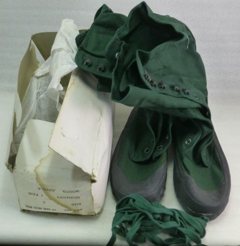 Unissued 1940s 1950s British Army Canvas & Rubber Jungle boots