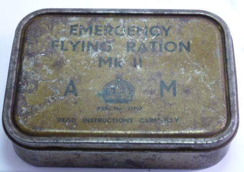 WW2 RAF Emergency Flying Rations MkII Tin
