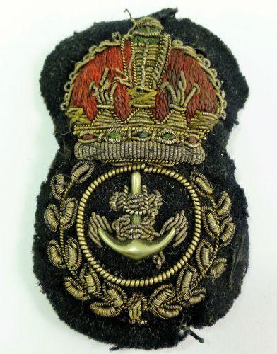 5 Original WW2 RN Chief Petty Officers Cap Badge