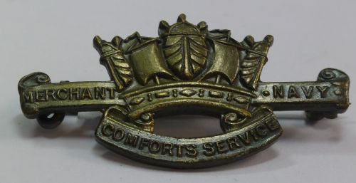 WW1 WW2 Merchant Navy Comforts Service Pin Badge