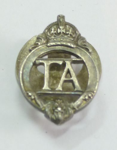 Small Pre WW2 Territorial Army Lapel Badge
