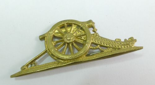 9 WW1 WW2 Royal Artillery Field Gun Pin Brooch