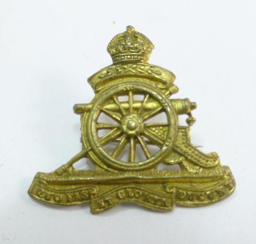 10 WW1 WW2 Royal Artillery Pin Back Sweetheart Brooch