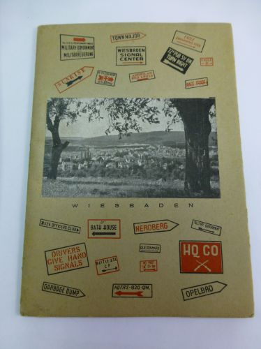 Early Post WW2 US Soldiers Views & Facts Wiesbaden Booklet