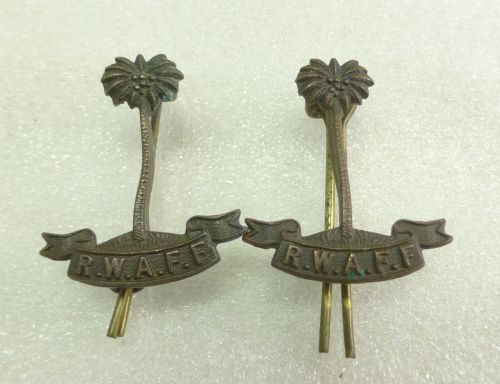 Original WW2 Royal West African Frontier Force Collar Badges