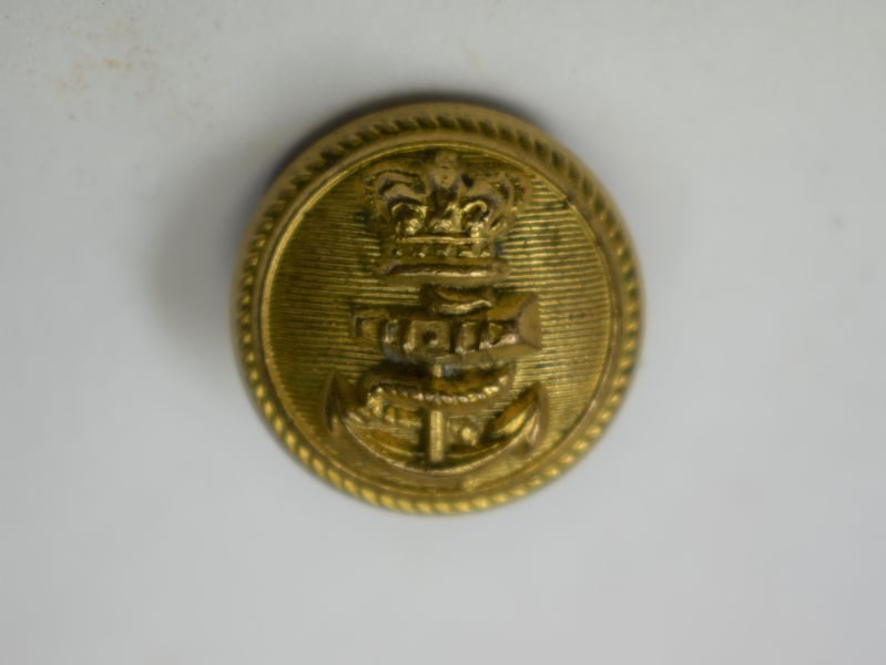 Victorian Royal Navy Guilt Button Sweetheart Brooch