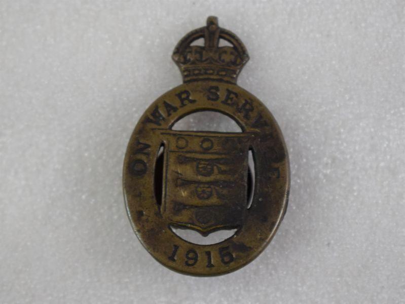 WW1 British On War Service 1915 Lapel Badge By J.A.Wylie & Co London.