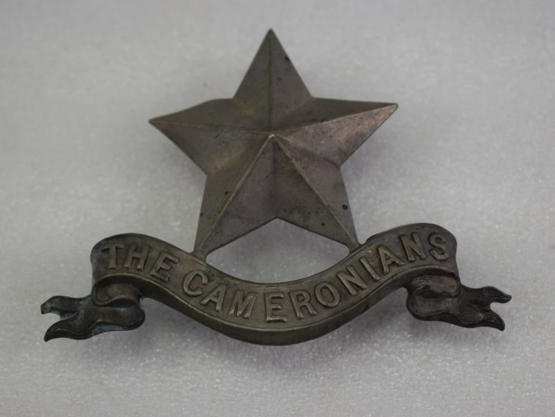 Original Large WW2? Cameronians Pipers Badge