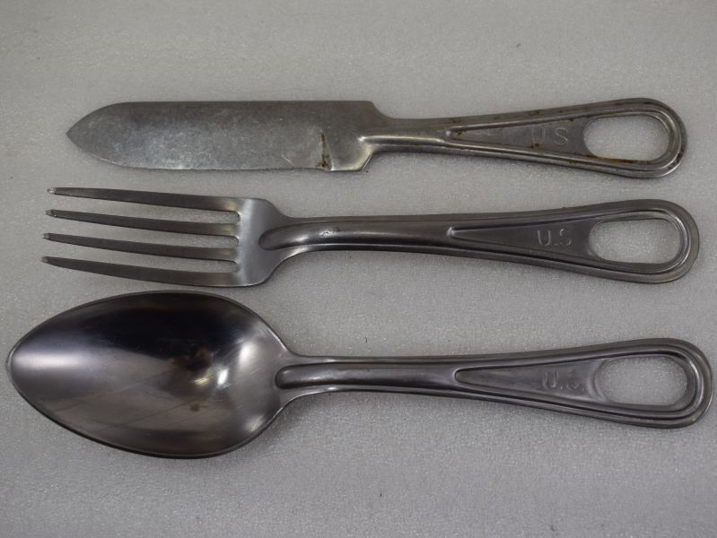 Original WW2 US Army all Metal KFS Cutlery Set