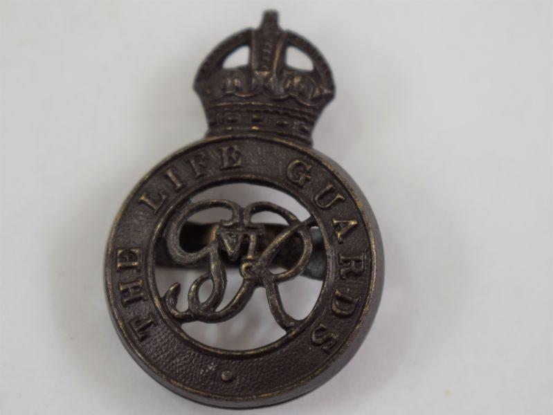 Original WW2 The Life Guards Officers Bronze Cap Badge