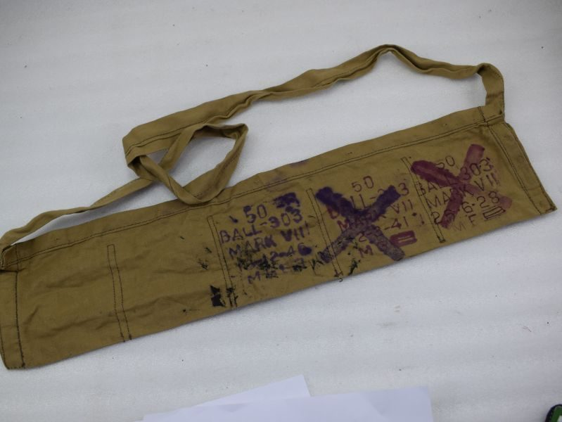Early British Army Cotton Ammo Bandolier 1928