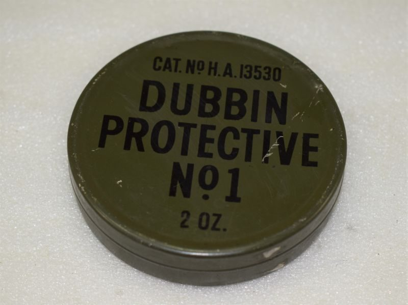 1950s British Army Dubbin Protective No1 Tin Complete with Contents