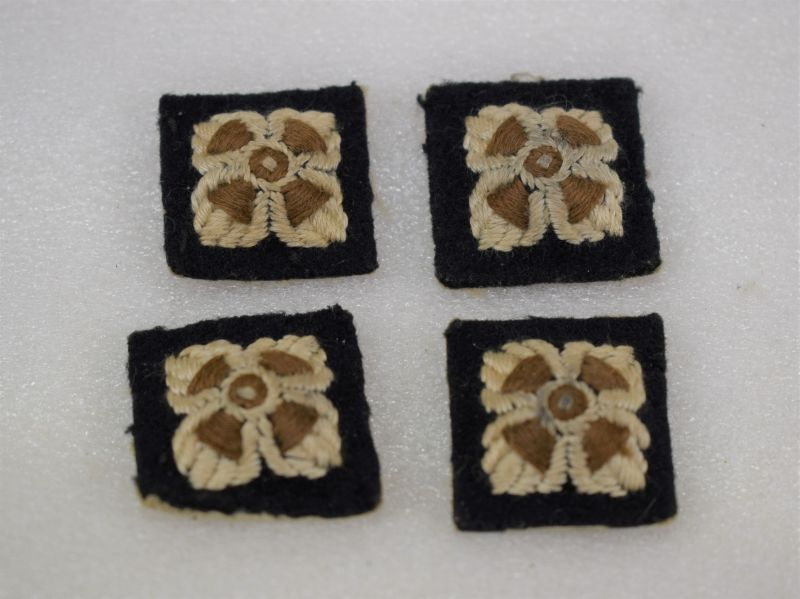 Ww2 Officers Rank Pips With Dark Green Border X4