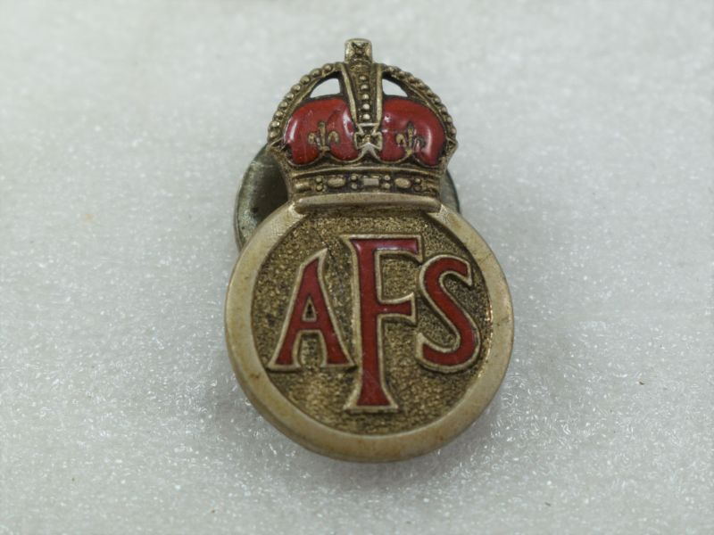 WW2 Auxiliary Fire Service Part Enamelled Lapel Badge
