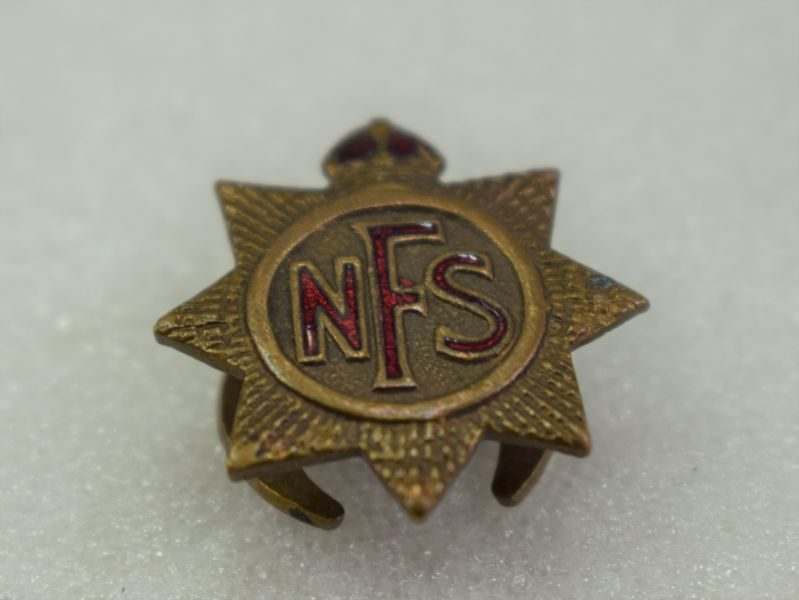 Small WW2 National Fire Service Lapel Badge