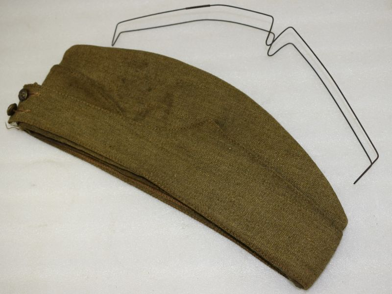 12 WW2 British Army FS Cap with Original Metal Former 1942