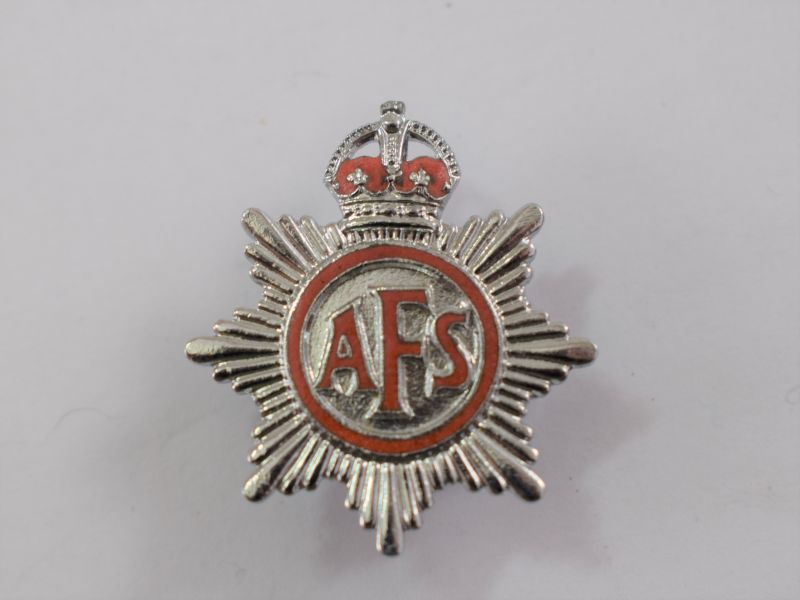 Small Early WW2 Auxiliary Fire Service Lapel Badge