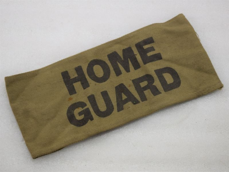 Excellent Original Home Guard Issue Khaki Armlet