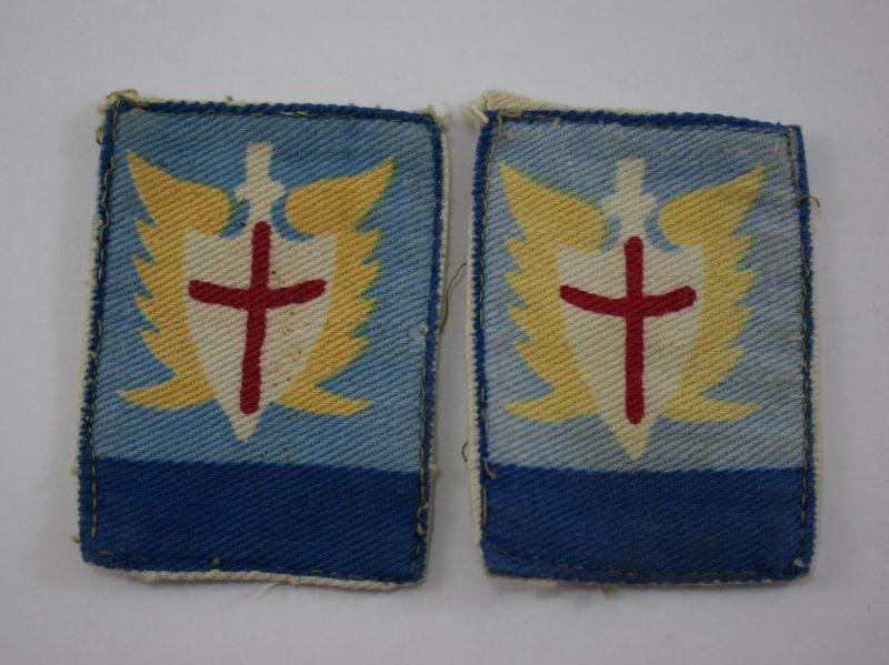 Nice Original Matching Pair of ALFSEA Cloth Badges