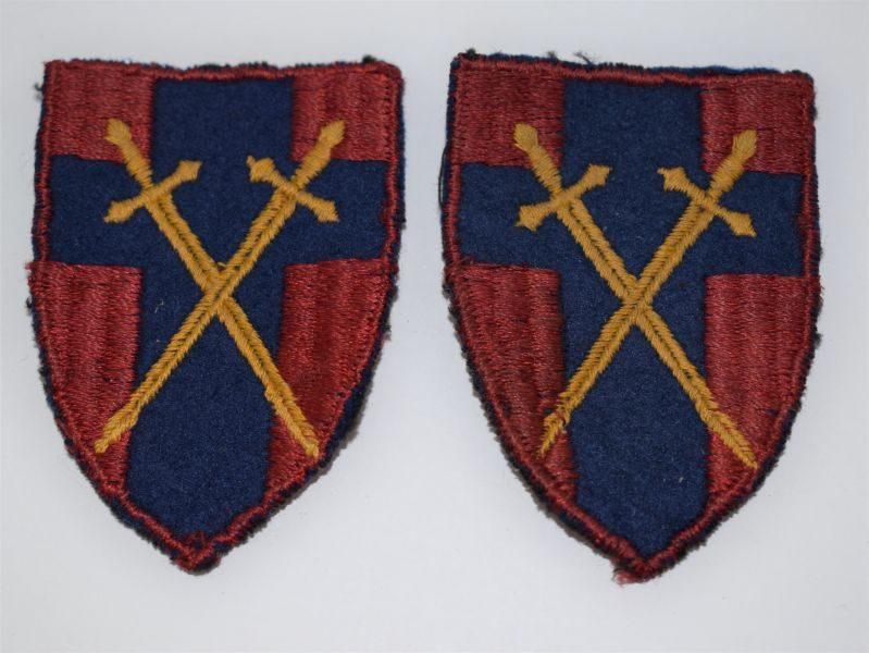 Original WW2 British Army HQ 21st Army Group Cloth Insignia