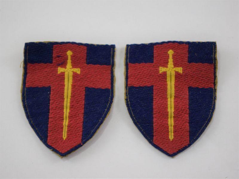Original Early Post WW2 BAOR Cloth Insignia