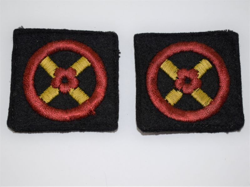 Original WW2 Woven UK Western Command Cloth Badges