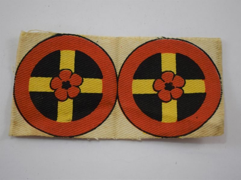 Un-Cut WW2 Printed Western Command UK Cloth Insignia