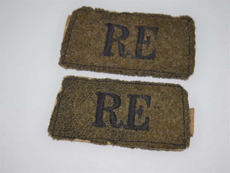 Original WW1 WW2 Royal Engineers Epaulette Slip on Titles