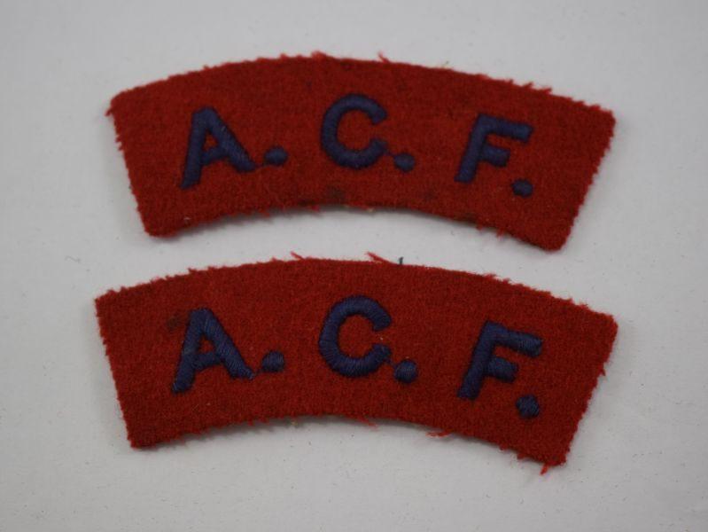 Vintage Army Cadet Force Cloth Shoulder Titles