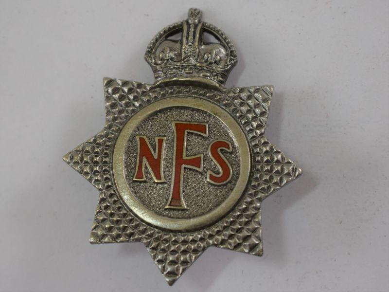 5 Original WW2 National Fire Service Cap Badge
