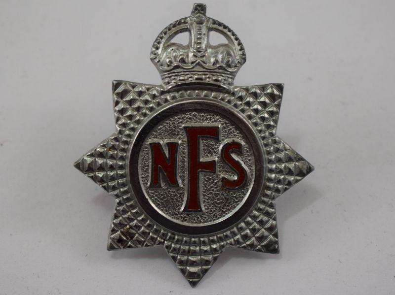 Original WW2 National Fire Service Cap Badge