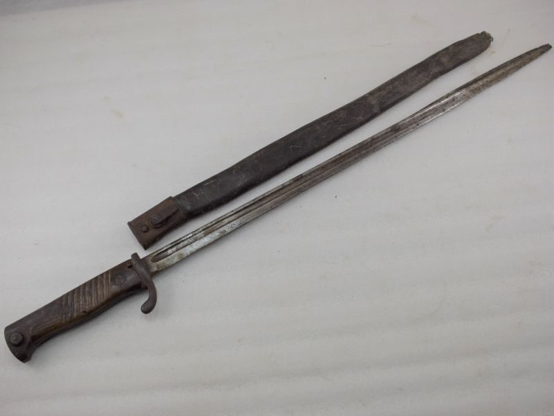 Relic WW1 German M-1898 Pipe Back Bayonet & Scabbard