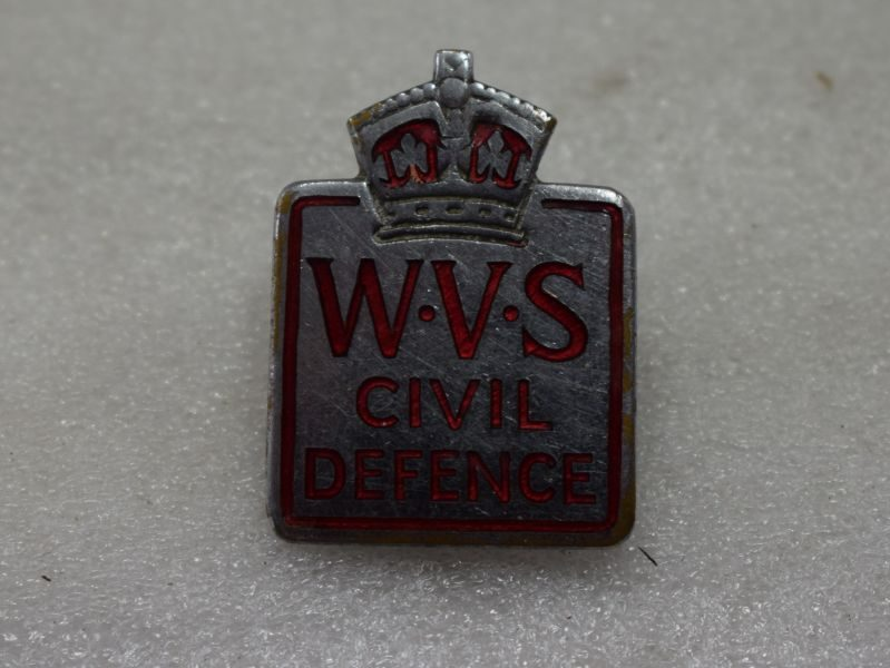 WW2 Woman's Voluntary Service Civil Defence Pin on Cap Badge